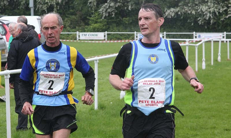 Finishing the Calderdale Way Relay
